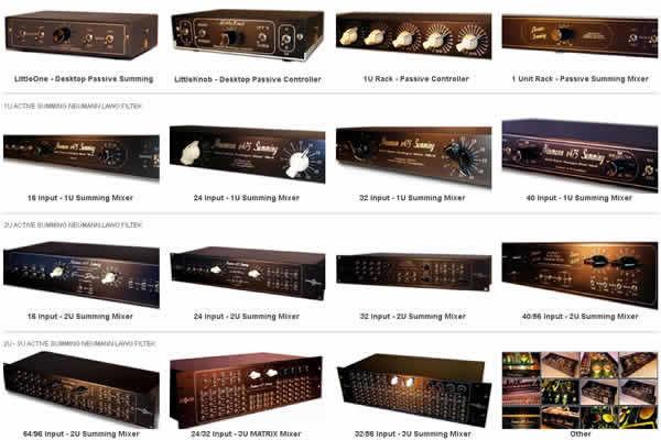 audio database summing mixer