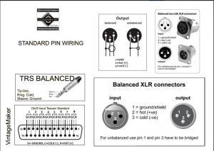 balanced trs d-sub xlr connection