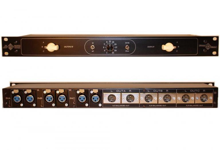 3 stereo in 3 stereo out studio line controller