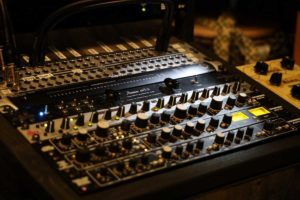 Neumann mixer in the studio