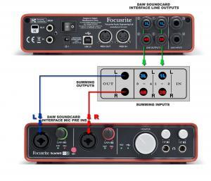 Focusrite 6i6 analog summing