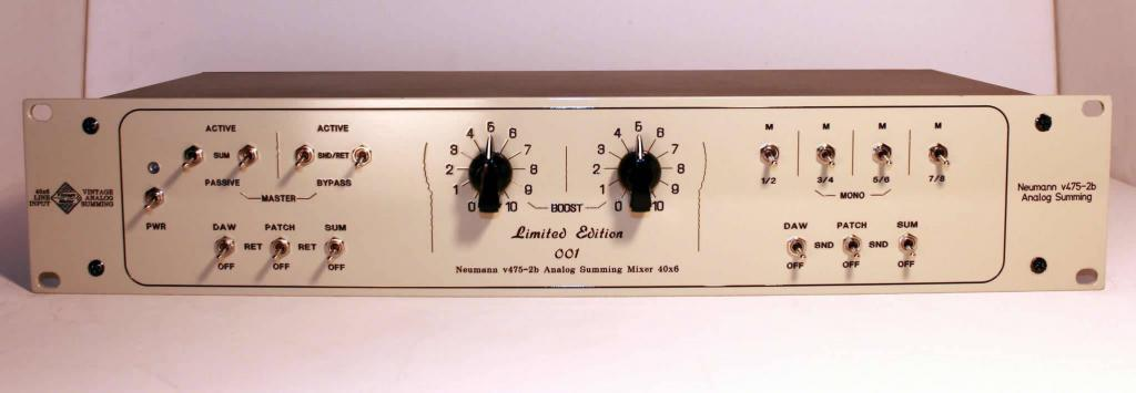 vintage white summing mixer